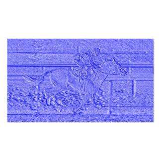 Pastel Blue Horse Racing Thoroughbred Racehorse Double-Sided Standard Business Cards (Pack Of 100)