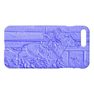 Pastel Blue Horse Racing Thoroughbred Racehorse iPhone 8 Plus/7 Plus Case