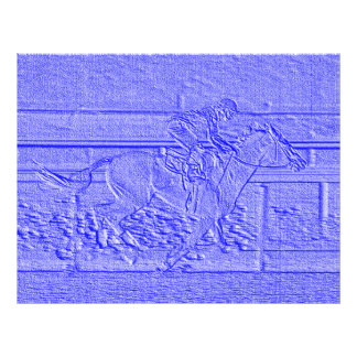Pastel Blue Horse Racing Thoroughbred Racehorse Letterhead