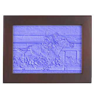 Pastel Blue Horse Racing Thoroughbred Racehorse Memory Box