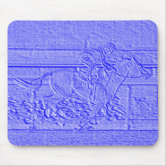 Pastel Blue Horse Racing Thoroughbred Racehorse Mouse Pad