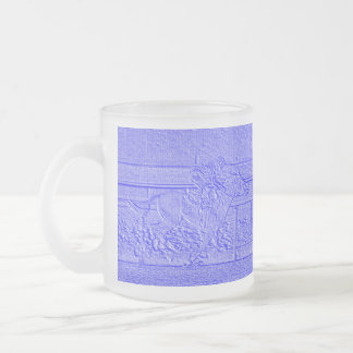 Pastel Blue Horse Racing Thoroughbred Racehorse 10 Oz Frosted Glass Coffee Mug