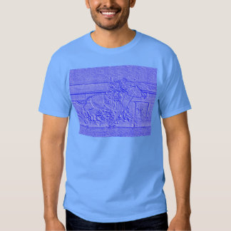 Pastel Blue Horse Racing Thoroughbred Racehorse T Shirt