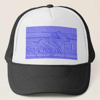 Pastel Blue Horse Racing Thoroughbred Racehorse Trucker Hat