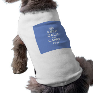 Pastel Blue Keep Calm and Carry On Tee