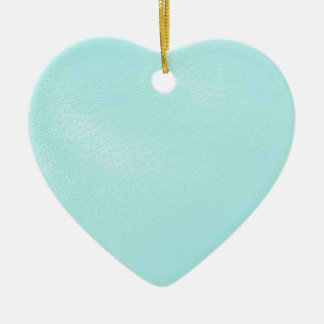 Pastel Blue Leather Look Ceramic Ornament