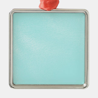 Pastel Blue Leather Look Metal Ornament
