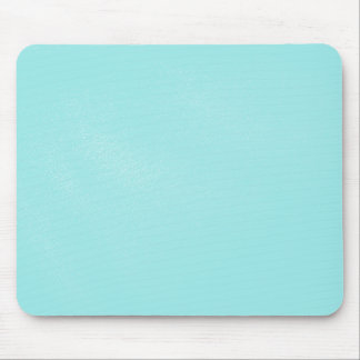 Pastel Blue Leather Look Mouse Pad