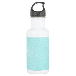 Pastel Blue Leather Look 18oz Water Bottle