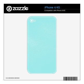 Pastel Blue Leather Look Skin For iPhone 4S