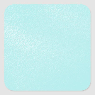 Pastel Blue Leather Look Square Stickers