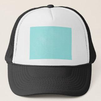 Pastel Blue Leather Look Trucker Hat