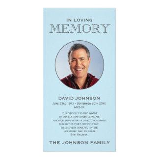 Pastel Blue Memorial Family Acknowledgement Card