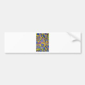 Pastel Blue Mirror Fragments Bumper Sticker