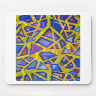 Pastel Blue Mirror Fragments Mouse Pads