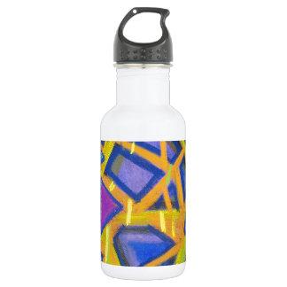 Pastel Blue Mirror Fragments 18oz Water Bottle