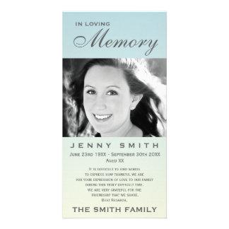 Pastel Blue Ombré Memorial Family Acknowledgement Card