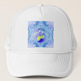 Pastel Blue Orchid Trucker Hat