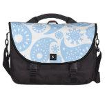 Pastel Blue Paisley Design. Bags For Laptop