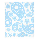 Pastel Blue Paisley Design. Custom Flyer