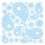 Pastel Blue Paisley Design. Personalized Announcements