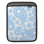 Pastel Blue Paisley Design. Sleeves For iPads