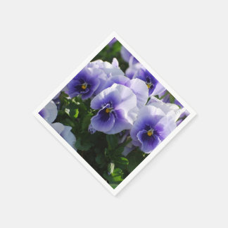 Pastel Blue Pansies Napkin