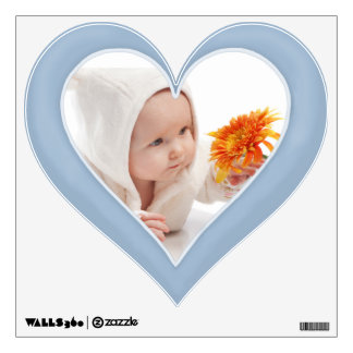 Pastel Blue Photo Heart - Customize Wall Decal