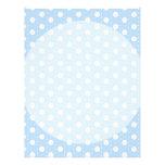 Pastel Blue Polka Dot Pattern Letterhead