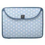 Pastel Blue Polka Dot Pattern MacBook Pro Sleeve