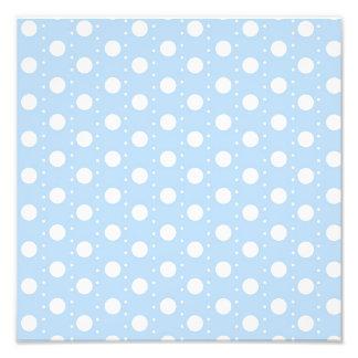 Pastel Blue Polka Dot Pattern Photo