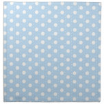 Pastel Blue Polka Dot Pattern Printed Napkins