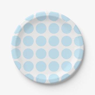 Pastel Blue Polka Dots Paper Plates