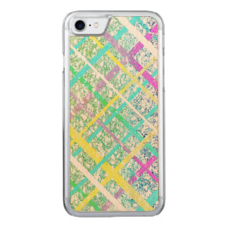 Pastel Blue Pop Art Paper Crossed Line Mixed Media Carved iPhone 7 Case