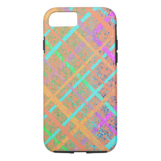 Pastel Blue Pop Art Paper Crossed Line Mixed Media iPhone 7 Case
