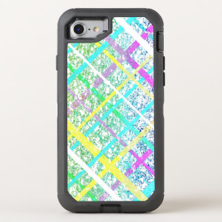 Pastel Blue Pop Art Paper Crossed Line Mixed Media OtterBox Defender iPhone 7 Case
