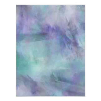 Pastel Blue Purple Watercolor Background Poster