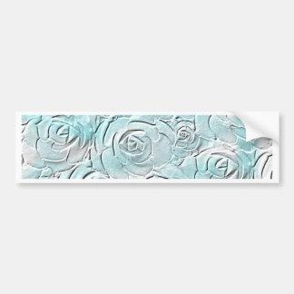 Pastel blue roses bumper sticker