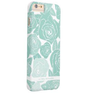 Pastel Blue Roses Personalized iPhone 6 Plus Case