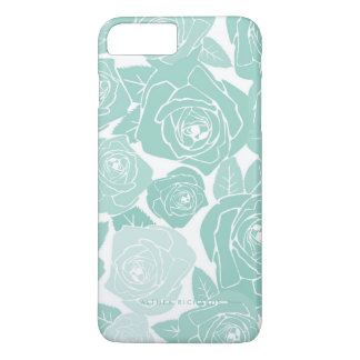 Pastel Blue Roses Personalized iPhone 7 Plus Case