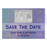 pastel blue  save the date greeting card