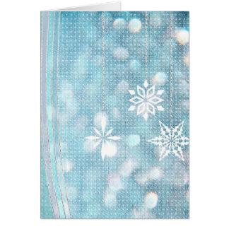Pastel Blue Snowflakes Greeting Cards