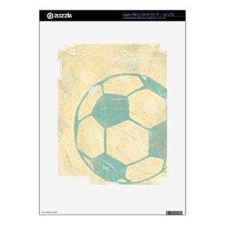 Pastel Blue Soccer Ball by Chariklia Zarris iPad 3 Skins