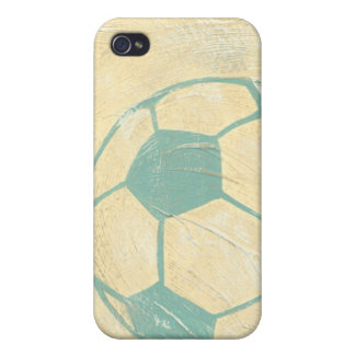 Pastel Blue Soccer Ball by Chariklia Zarris iPhone 4 Case
