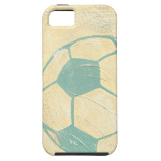 Pastel Blue Soccer Ball by Chariklia Zarris iPhone SE/5/5s Case
