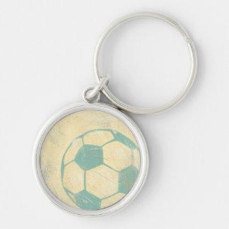 Pastel Blue Soccer Ball by Chariklia Zarris Keychain