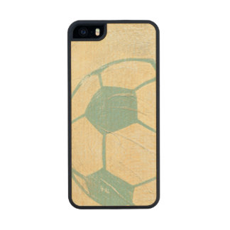 Pastel Blue Soccer Ball by Chariklia Zarris Wood Phone Case For iPhone SE/5/5s