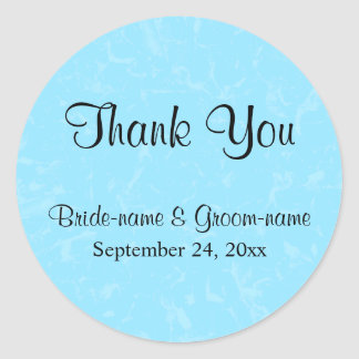 Pastel Blue Subtle Abstract Background Wedding Classic Round Sticker