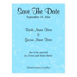 Pastel Blue Subtle Abstract Background Wedding Postcard