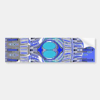 Pastel blue superfly design car bumper sticker